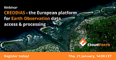 Illustration of Webinar: Introduction to CREODIAS - the European solution for Earth Observation data access & processing - 21 January