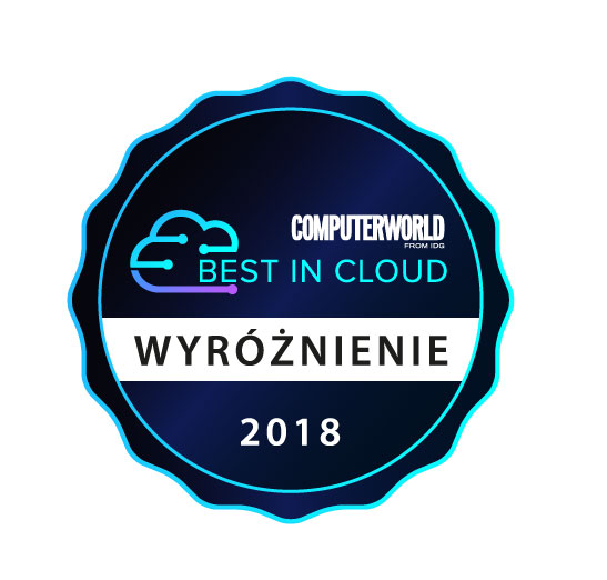 Illustration of CloudFerro with Best in Cloud distinction